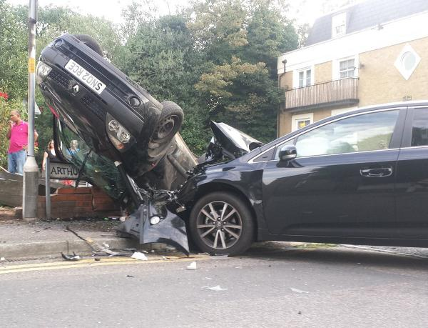 'Absolute miracle' no one has died at Gravesend junction where car flipped