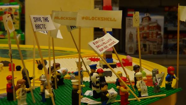 Greenpeace LEGO protest at Bluewater store