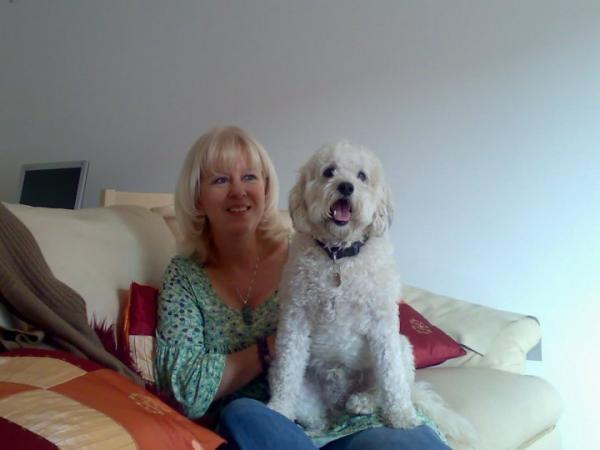 Wendy Taylor with beloved dog Ernie