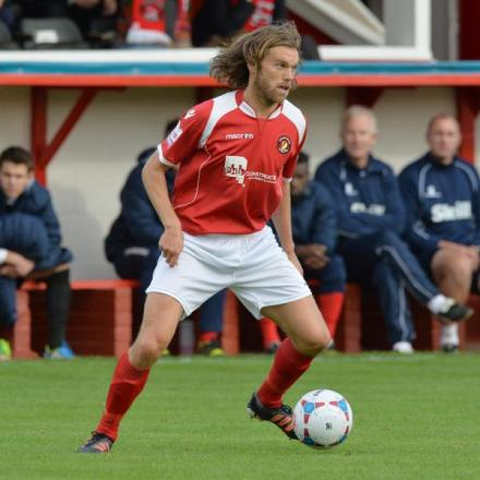 Daryl McMahon got Ebbsfleet's season up and running with a stunning opener. Picture by Keith Gillard.
