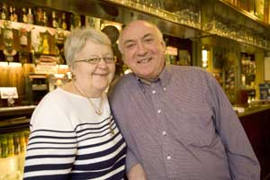 News Shopper: Doug Elsley, landlord at the John Evelyn, with wife Brenda