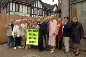Residents celebrate the decision to turn down plans to build flats on the disused Green Man pub	LC8899