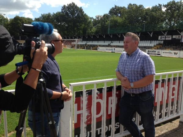Cray Wanderers chairman Gary Hillman is interviewed for the documentary