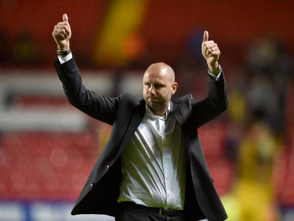 Thumbs up: Despite only drawing, Bob Peeters knows there are positives to be taken