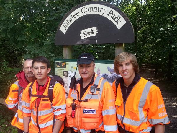 Left to right: SELSAR volunteers Keith Francis, Tom Hannath, Dave Ryan and Dan Sparks.