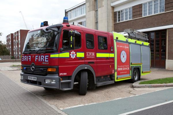 Firefighters were called to an asphalt plant in Church Manor Way, Erith, early on Saturday morning