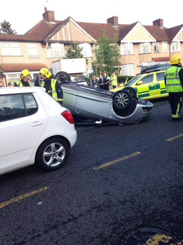More Pics Crash In Bexley Leaves Car On Roof News Shopper