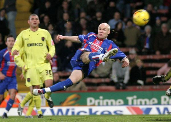 AJ in action for Palace in the south east London derby v Millwall in 2005
