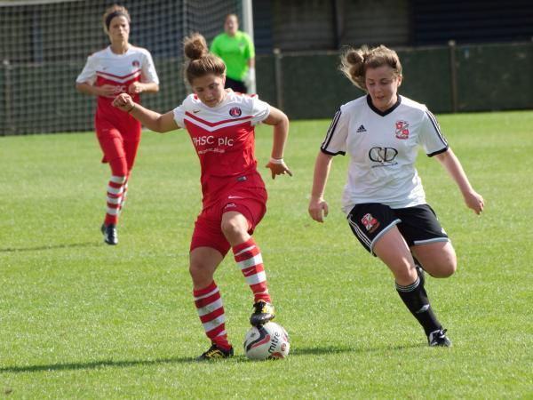 Kit Graham (above) scored twice. Picture by Bob Searle at All Sports Kent.