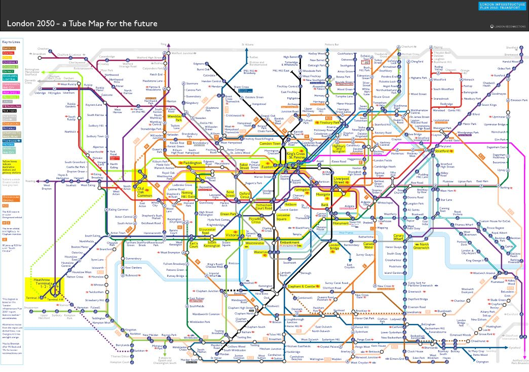 News Shopper: London infrastructure map 2050