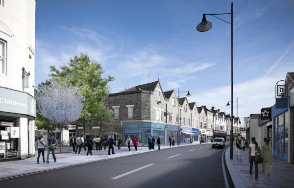 An artist's impression of the new-look Sidcup High Street