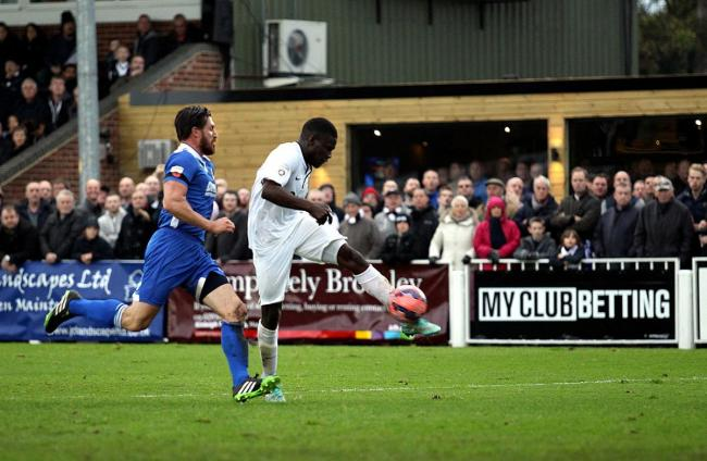 Super sub: Moses Ademola scored Bromley's winner