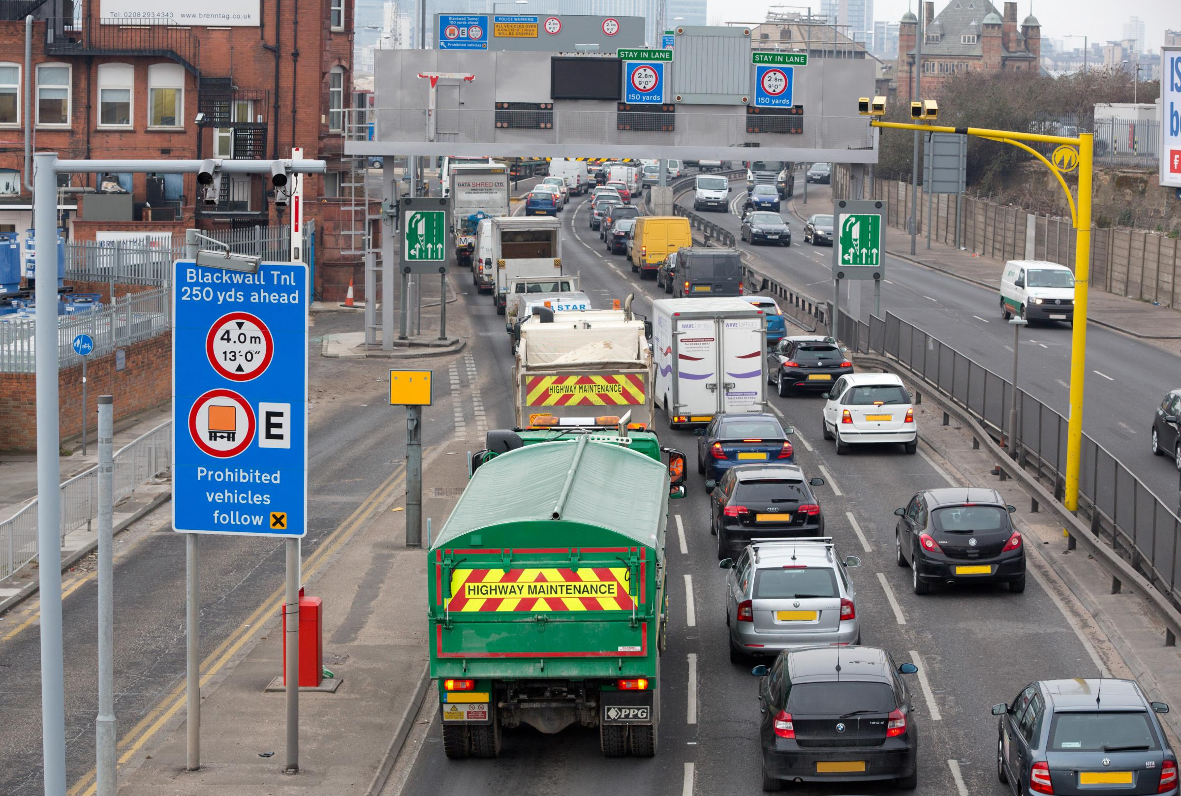 Congestion at the Blackwall Tunnel