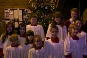 Sarah Ince with the St Francis of Assisi Junior Choir