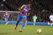 Built in the Championship: Wilfried Zaha bagged Crystal Palace's second goal in Saturday's 2-1 win at Stoke City
