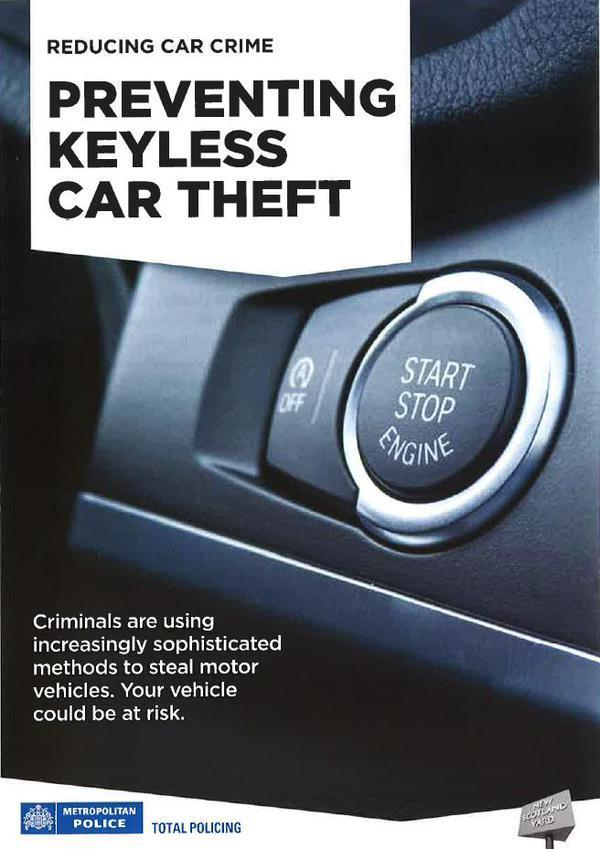 Metropolitan Police launched Operation Endeavour to combat keyless vehicle theft