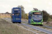 The Cambridge Guided Busway at Longstanton - could running express coaches on rail routes improve transport in London?