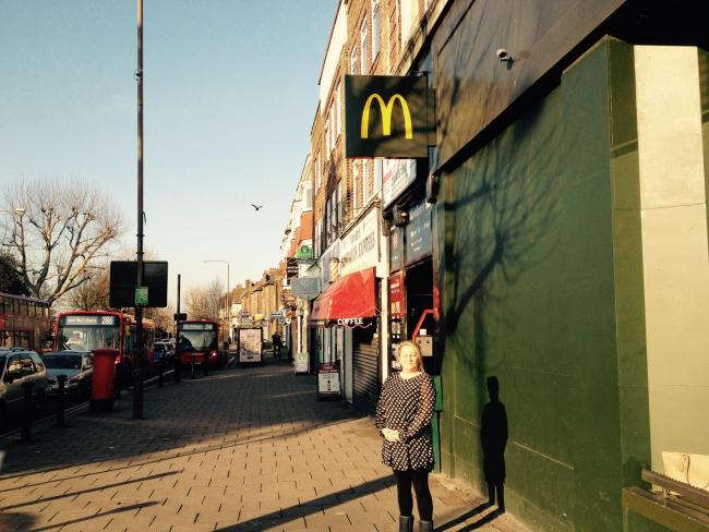Psychic Sally Cudmore who felt the presence of an 18th century woman at McDonalds