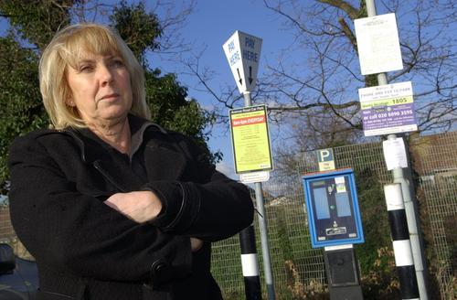 Denise Prior says the proposed parking charge increases will make her life 'extremely difficult'