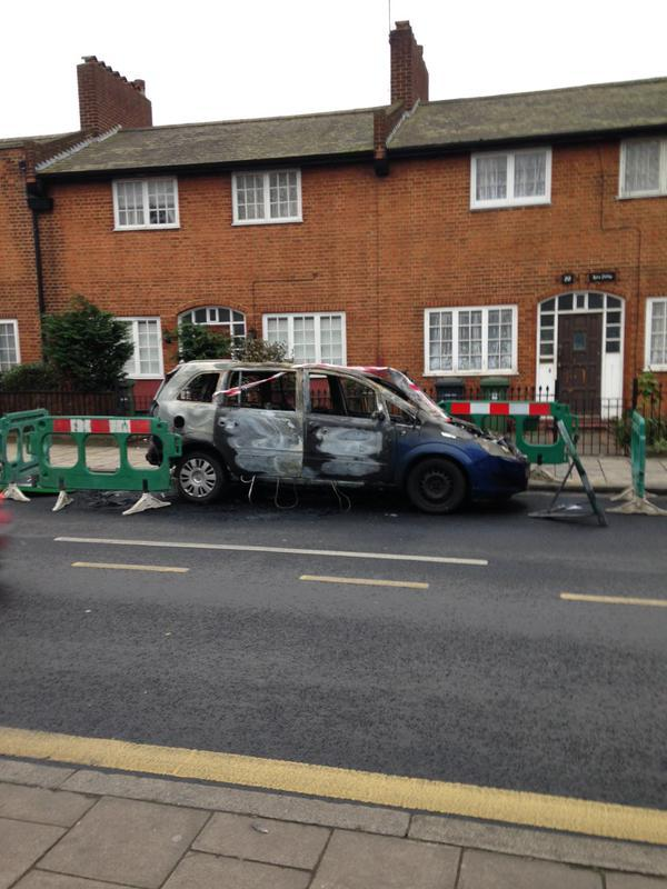 The car on Brookmill Road (Pic by Freddie Whittaker)