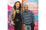 Ashley Walters and Bianca Miller at Lewisham Youth Conference (c) Robin Lawrence Photography