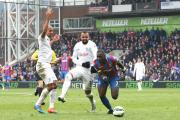 In trouble with the missus: Crystal Palace's Yannick Bolasie helped destroy QPR in the first half at Selhurst Park