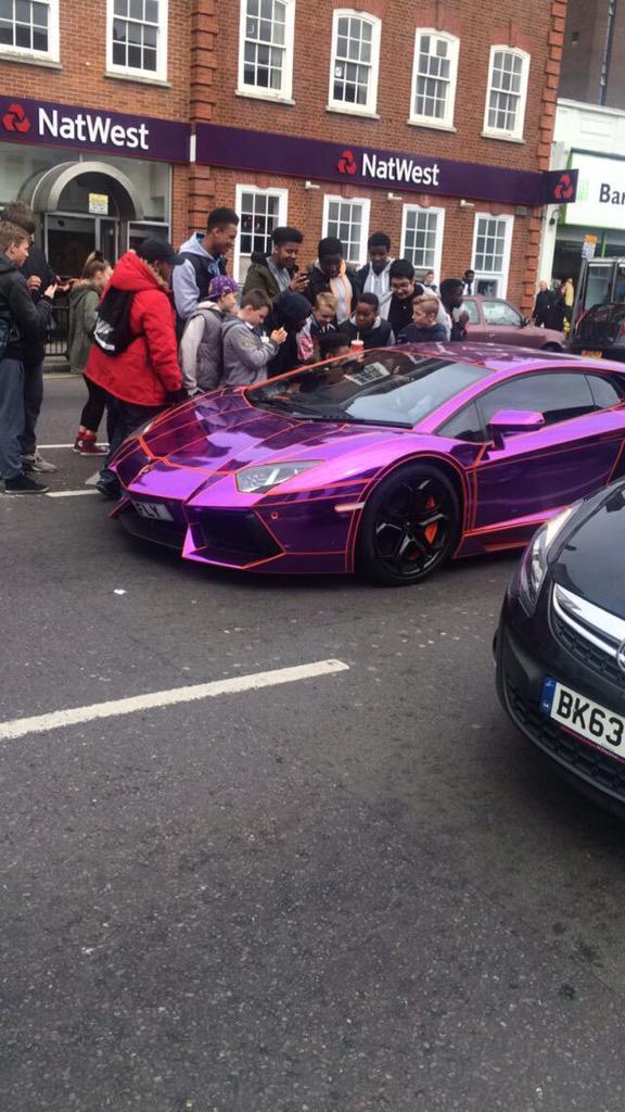 Rap Star And Youtuber Ksi Pictured Driving Lamborghini Through