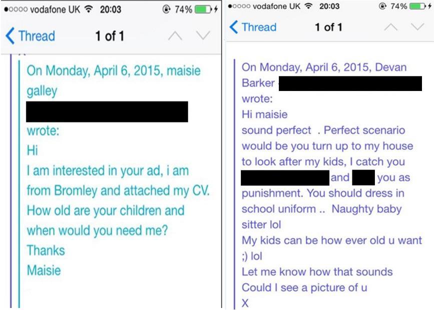Beckenham teenager applied for babysitting job on Craigslist but ...