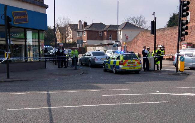The scene in Sidcup High Street this morning. Photo: Philip Palmer