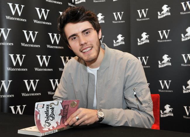 (c) Bluewater - Alfie Deyes meets fans to sign copies of his new book The Pointless Book 2 at Bluewater