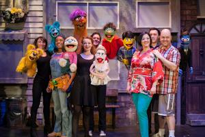 Watch behind the scenes footage from Avenue Q as we talk to the cast