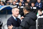 Neil Harris greets Charlton counterpart Guy Luzon before the recent derby meeting. Picture by Edmund Boyden.