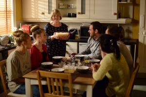 EastEnders' Aunt Babe learns not to trifle with Buster