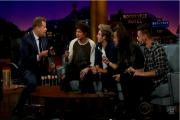 One Direction with the cake pops on The Late Late Show with James Corden