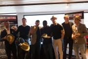 Bromley's players went with a hats theme at the recent MyClubBetting.com awards night