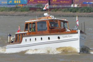 PICTURED: Little ships sail past Gravesend to mark Dunkirk rescue