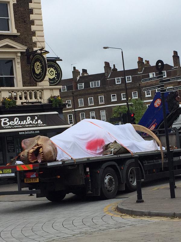 t Rex Dinosaur on a Truck