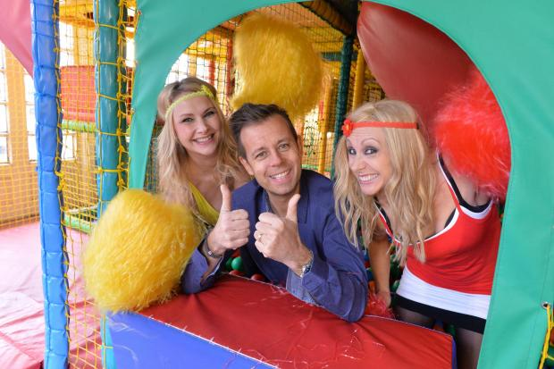 News Shopper: Fun House presenters Pat Sharp and the twins Melanie and Martina.