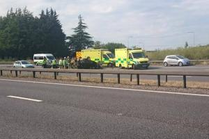 Car overturns on A2 at Pepperhill