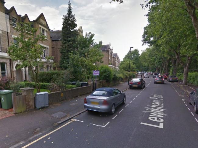 Lewisham Park Where A Ground Floor Flat Was Shot At Last Week