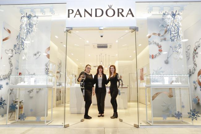 90c0a0b4d18 Pandora store manager Harriet Fenty with assistant manager Rakel  Palmadottir and Christine Barton, Retail Liaison