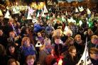 The Christmas lantern parade and annual lights switch on in Gravesend town centre
