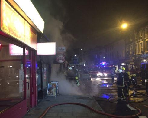 Fire Rages At Pizza Go Go Takeaway Shop In Lee High Road