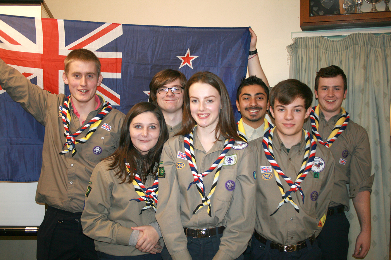 Some of the Bromley Scouts heading off to New Zealand.