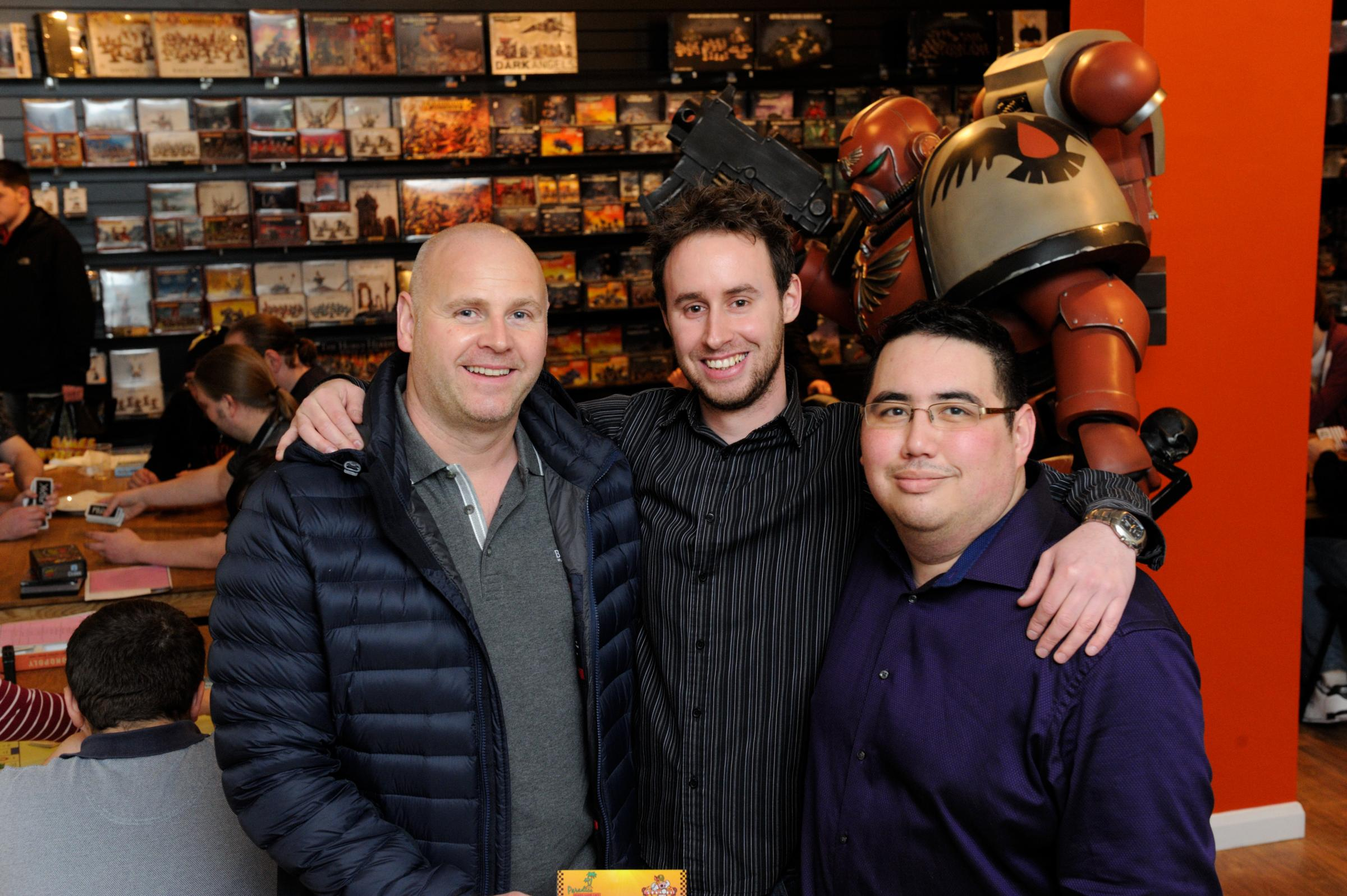 Jason Grimwood (centre) with his silent business partners Jason Harvey & Charlie Clift.