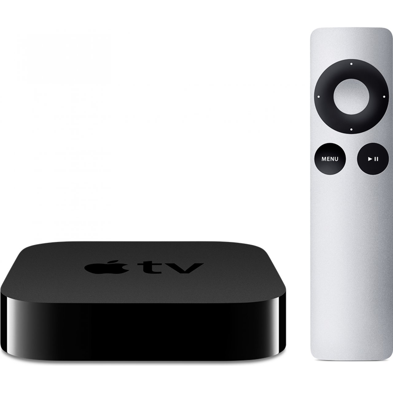 Apple TV lets you watch and listen to media from the iTunes store through your television