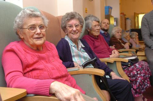 Residents of St Margarets Care Home in Priestlands Park Road