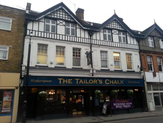 PubSpy reviews The Tailor's Chalk, Sidcup