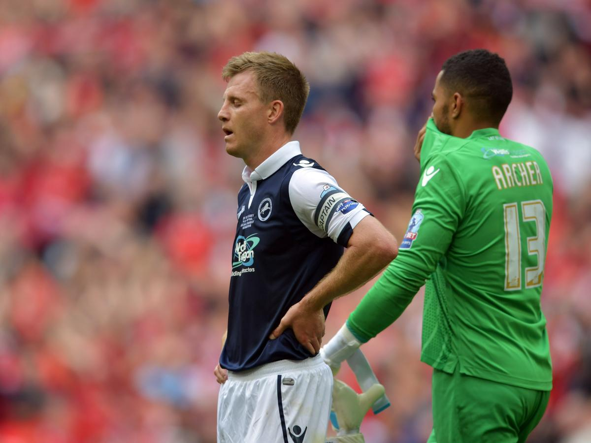 gallery: millwall fans pictured at wembley as players react to