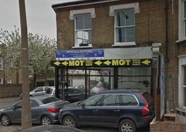Spyros Katchis, owner of Dundalk Motors Testing Ltd in St Asaph Road, was found issuing MOT certificates without carrying out the physical test. Photo: Google maps